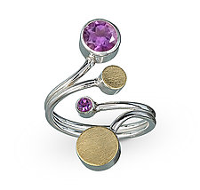 Treble Ring by Elizabeth Garvin (Gold, Silver & Stone Ring)