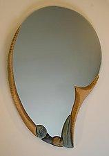 Nautilus Reflection by Jan Jacque (Ceramic & Wood Mirror)