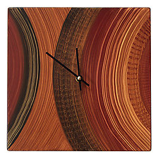 Pod Wall Clock by Ingela Noren and Daniel  Grant (Painted Wood Clock)
