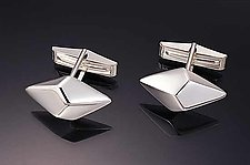 Trapezohedron Cuff Link by Patricia Madeja (Silver Cuff Links)