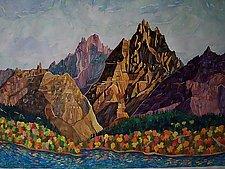 Red Rocks No.2 by Thomas Lo Cicero (Watercolor Painting)