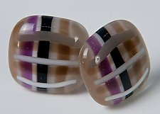 Striped Cufflinks by Renato Foti (Art Glass Cufflinks)