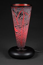 Fissure Lamp, Lava Red by Eric Bladholm (Art Glass Table Lamp)