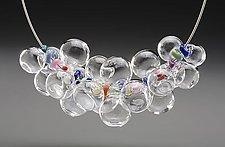 Rainbow Bubble Necklace by Melissa Schmidt (Art Glass Necklace)