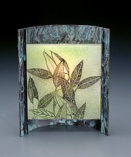 Eucalyptus by Joan Bazaz (Glass & Copper Lamp)