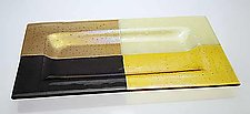 Quadro Tray (Earth Tones) by Renato Foti (Art Glass Tray)