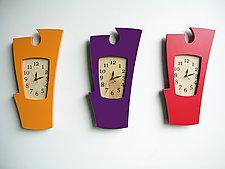 Simon Says - Vibrant Colors by Vincent Leman (Wood Clock)