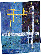 Blue Moon by Catherine Kleeman (Fiber Wall Hanging)
