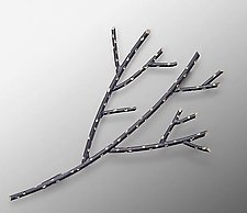 Twig Brooch by Carol Windsor (Silver Brooch)