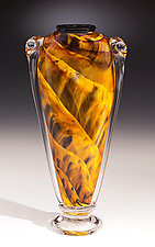 Amber Shoulder Vase by Mark Rosenbaum (Art Glass Vase)