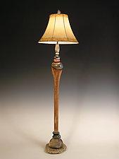 See 'n Stone Floor Lamp by Jan Jacque (Mixed Media Floor Lamp)