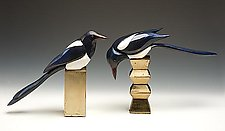 Magpies by Dona Dalton (Wood Sculpture)