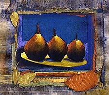 Three Pears with Leaves by Jane Sterrett (Giclee Print)