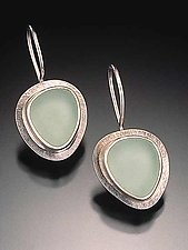 Beach Glass Earrings by Amy Faust (Silver Earrings)