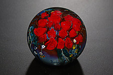 Roses Bouquet Paperweight by Shawn Messenger (Art Glass Paperweight)