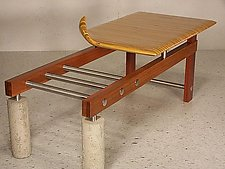 Foundation Table by Craig Siebeneck (Wood, Metal & Concrete Coffee Table)
