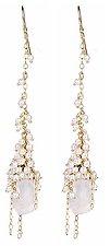 Whisper Cascade Earring by Sara Freedenfeld (Gold, Pearl & Stone Earrings)