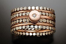 Ellipsis Stack Rings: Rose Gold by Linda Bernasconi (Gold, Silver & Stone Rings)