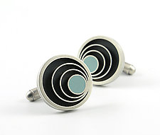 Orbit Cufflinks by Matthew Smith (Silver & Resin Cufflinks)