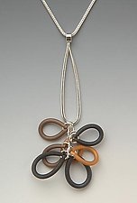 Large Multicolor Loops Pendant by Lonna Keller (Silver & Neoprene Necklace)