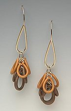 Gold Multicolor Loops by Lonna Keller (Gold & Neoprene Earrings)