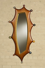 Little Son's Ball Mirror by Brent Skidmore (Wood Mirror)