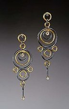 Hyppolyta Earrings by Ben Neubauer (Gold, Silver & Stone Earrings)