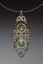 Antiope Pendant by Ben Neubauer (Gold, Silver & Stone Necklace)