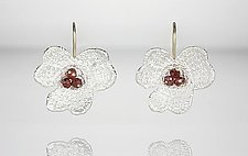 Pansy Lace Earrings by Sarah Richardson (Gold, Silver & Stone Earrings)