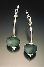 Silver & Baroque Bead Earrings by Eloise Cotton (Glass Bead Earrings)