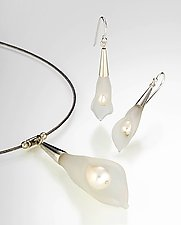 Calla Lily Pearl Necklace & Earrings by Eloise Cotton (Glass & Pearl Necklace & Earrings)