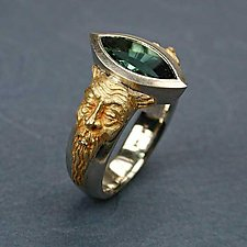 Gargoyle Series - East Meets West by Kim Eric Lilot (Gold, Palladium & Stone Ring)