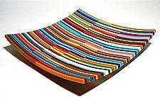 Sunrise Dish by Robert Woldow (Art Glass Plate)