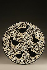 Blackbird Platter by Jennifer  Falter (Ceramic Platter)