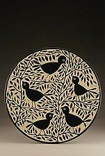 Blackbird Platter by Jennifer  Falter (Ceramic Platter)