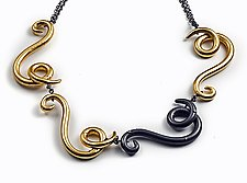 Swoosh Necklace by Shana Kroiz (Metal Necklace)