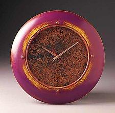 Purple Wall Clock  by Peter F. Dellert (Wood Clock)
