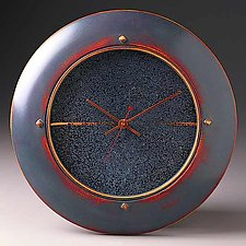 Blue Wall Clock by Peter F. Dellert (Wood Clock)