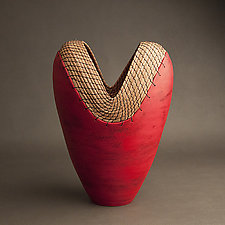 Red Heart by Hannie Goldgewicht (Ceramic Vessel)