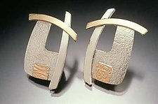 Golden Overlap by Idelle Hammond-Sass (Silver & Gold Earrings)