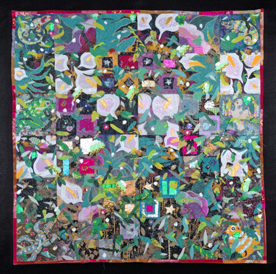 Willow Glen Garden by Therese May (Art Quilt)