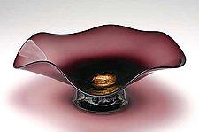Dichroic Burgundy Bowl by Janet Nicholson and Rick Nicholson (Art Glass Bowl)