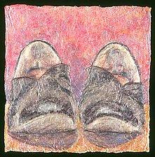 (foot) - tuxedo flats by Karen Urbanek (Fiber Wall Piece)