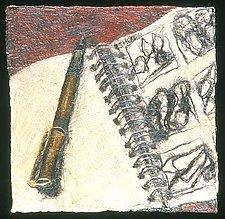 (quotidian) - sketchbook by Karen Urbanek (Fiber Wall Piece)