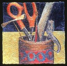 (quotidian) - tools by Karen Urbanek (Fiber Wall Piece)