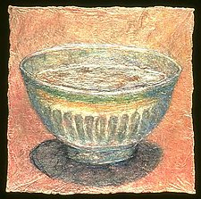 (quotidian) - latte by Karen Urbanek (Fiber Wall Piece)