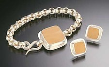 Helia Bracelet and Earrings by Amy Faust (Silver & Glass Bracelet & Earrings)