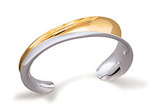 Half Open Cuff by Nancy Linkin (Silver & Gold Bracelet)