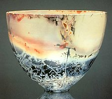 Eggshell Bowl, Large by Judith  Motzkin (Ceramic Vessel)