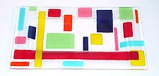 Random Tray: Bright by Renato Foti (Art Glass Tray)